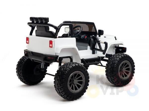 24v kids ride on truck lifted nitro rc kidsvip white 10