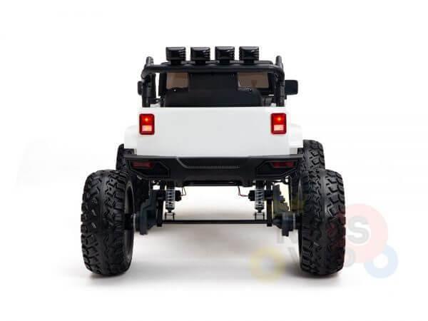 24v kids ride on truck lifted nitro rc kidsvip white 13