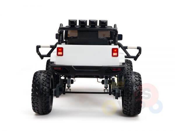 24v kids ride on truck lifted nitro rc kidsvip white 14