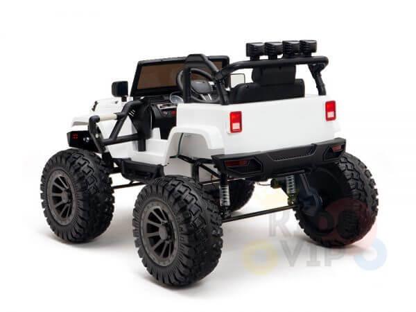 24v kids ride on truck lifted nitro rc kidsvip white 15