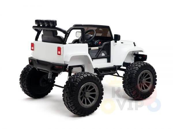 24v kids ride on truck lifted nitro rc kidsvip white 9