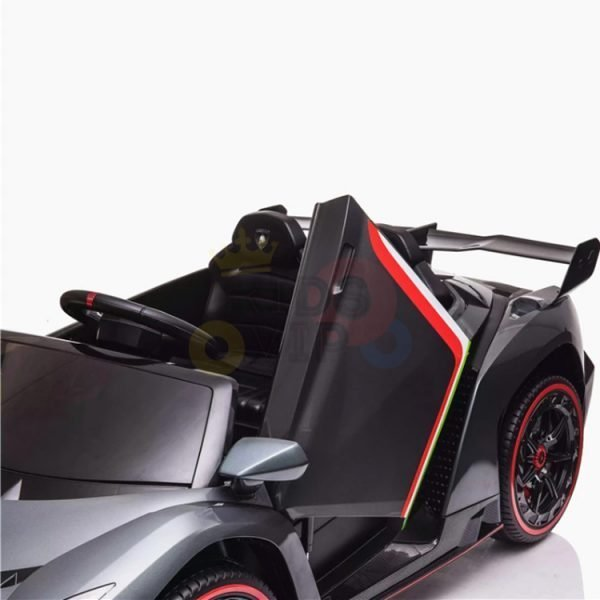 2 seats lamborghini ride on kids and toddlers ride on car 12v veneno silver 10
