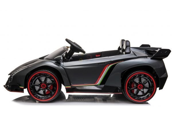 2 seats lamborghini ride on kids and toddlers ride on car 12v veneno silver 15 scaled