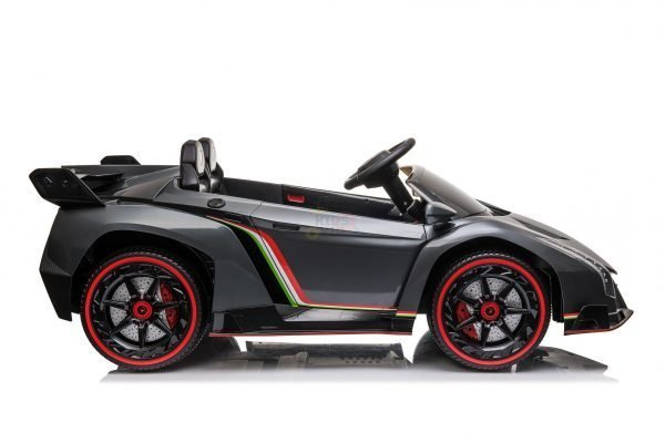 2 seats lamborghini ride on kids and toddlers ride on car 12v veneno silver 8 scaled