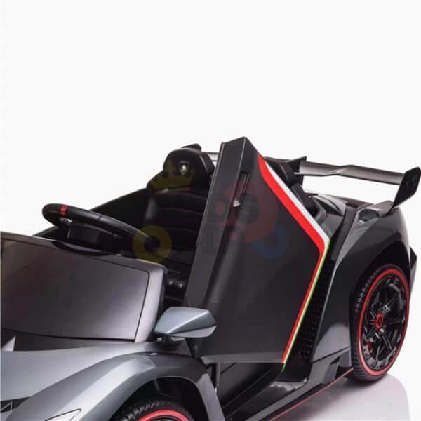 2 seats lamborghini ride on kids and toddlers ride on car 12v veneno silver 9