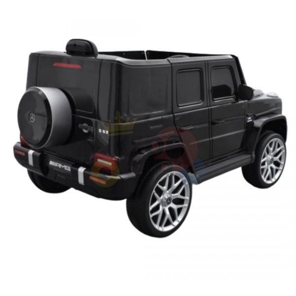 MERCEDES G63 KIDS TODDLERS RIDE ON CAR 12V RUBBER WHEEL LETHAR SEAT KIDSVIP BLACK PAINT 12