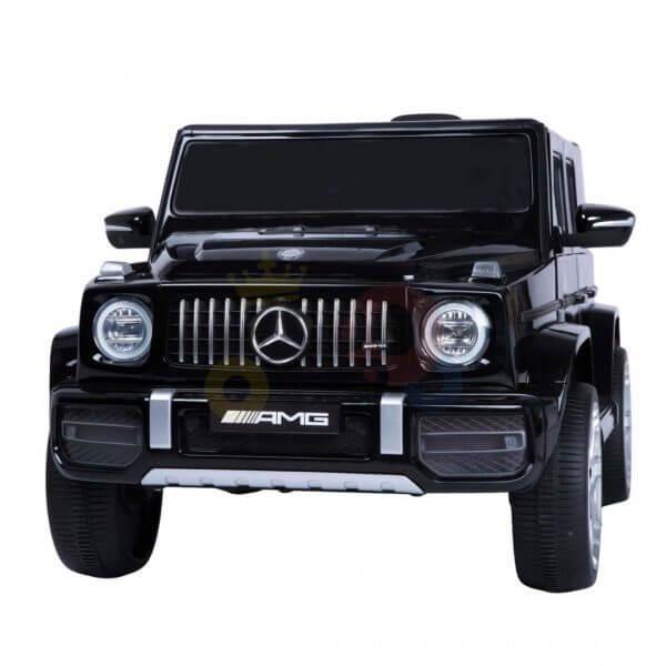 MERCEDES G63 KIDS TODDLERS RIDE ON CAR 12V RUBBER WHEEL LETHAR SEAT KIDSVIP BLACK PAINT 16