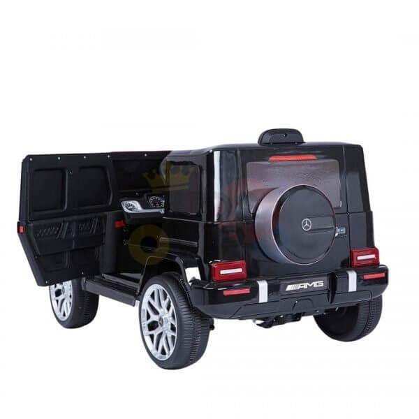 MERCEDES G63 KIDS TODDLERS RIDE ON CAR 12V RUBBER WHEEL LETHAR SEAT KIDSVIP BLACK PAINT 17