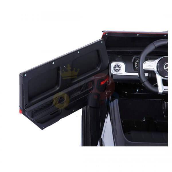 MERCEDES G63 KIDS TODDLERS RIDE ON CAR 12V RUBBER WHEEL LETHAR SEAT KIDSVIP BLACK PAINT 18