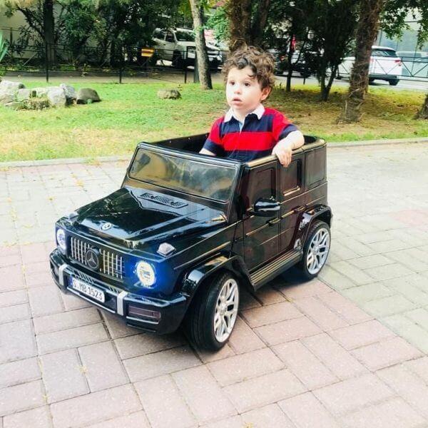 MERCEDES G63 KIDS TODDLERS RIDE ON CAR 12V RUBBER WHEEL LETHAR SEAT KIDSVIP BLACK PAINT 33