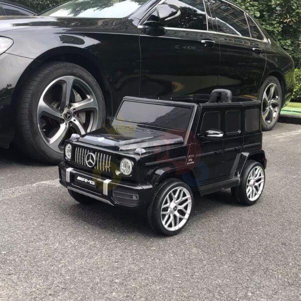 MERCEDES G63 KIDS TODDLERS RIDE ON CAR 12V RUBBER WHEEL LETHAR SEAT KIDSVIP BLACK PAINT 40
