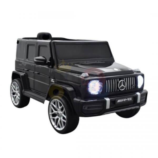 MERCEDES G63 KIDS TODDLERS RIDE ON CAR 12V RUBBER WHEEL LETHAR SEAT KIDSVIP BLACK PAINT 8