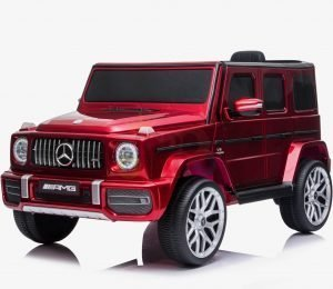 MERCEDES G63 KIDS TODDLERS RIDE ON CAR 12V RUBBER WHEEL LETHAR SEAT KIDSVIP RED PAINT 1