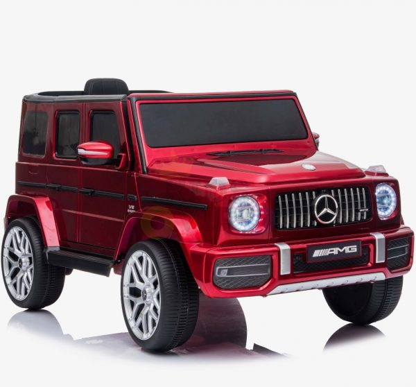 MERCEDES G63 KIDS TODDLERS RIDE ON CAR 12V RUBBER WHEEL LETHAR SEAT KIDSVIP RED PAINT 10