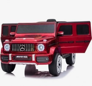 MERCEDES G63 KIDS TODDLERS RIDE ON CAR 12V RUBBER WHEEL LETHAR SEAT KIDSVIP RED PAINT 11