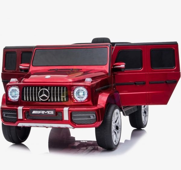 MERCEDES G63 KIDS TODDLERS RIDE ON CAR 12V RUBBER WHEEL LETHAR SEAT KIDSVIP RED PAINT 11