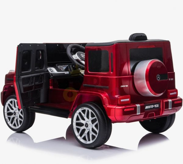 MERCEDES G63 KIDS TODDLERS RIDE ON CAR 12V RUBBER WHEEL LETHAR SEAT KIDSVIP RED PAINT 12