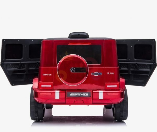 MERCEDES G63 KIDS TODDLERS RIDE ON CAR 12V RUBBER WHEEL LETHAR SEAT KIDSVIP RED PAINT 13