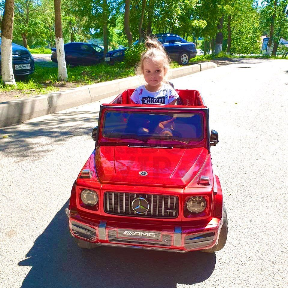 MERCEDES G63 KIDS TODDLERS RIDE ON CAR 12V RUBBER WHEEL LETHAR SEAT KIDSVIP RED PAINT 15