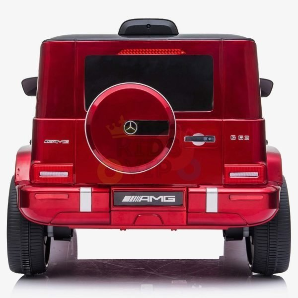 MERCEDES G63 KIDS TODDLERS RIDE ON CAR 12V RUBBER WHEEL LETHAR SEAT KIDSVIP RED PAINT 2