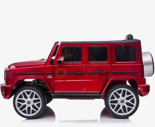 MERCEDES G63 KIDS TODDLERS RIDE ON CAR 12V RUBBER WHEEL LETHAR SEAT KIDSVIP RED PAINT 4
