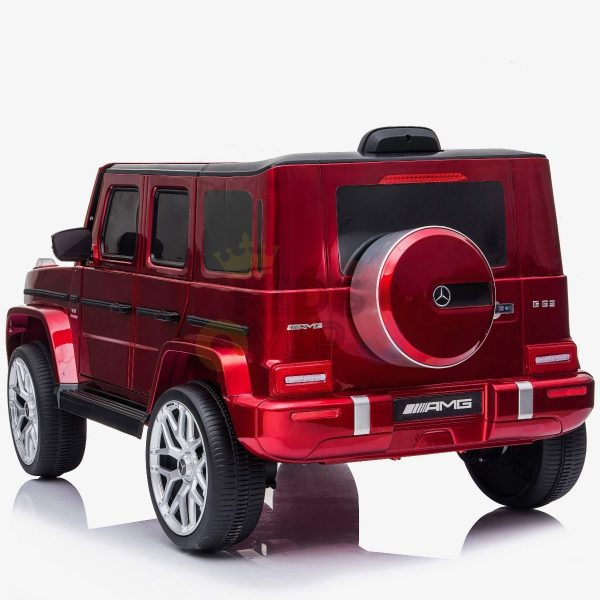 MERCEDES G63 KIDS TODDLERS RIDE ON CAR 12V RUBBER WHEEL LETHAR SEAT KIDSVIP RED PAINT 6