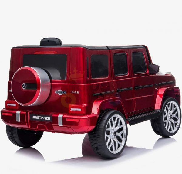 MERCEDES G63 KIDS TODDLERS RIDE ON CAR 12V RUBBER WHEEL LETHAR SEAT KIDSVIP RED PAINT 8