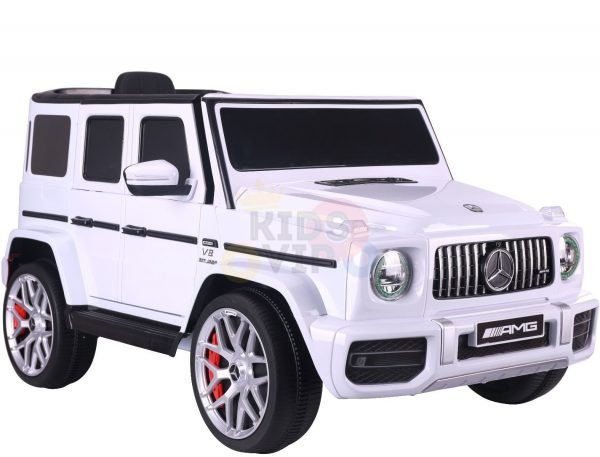 MERCEDES benz amg 306 G63 KIDS TODDLERS RIDE ON CAR 12V RUBBER WHEEL LEaTHeR SEAT KIDSVIP white doors 2