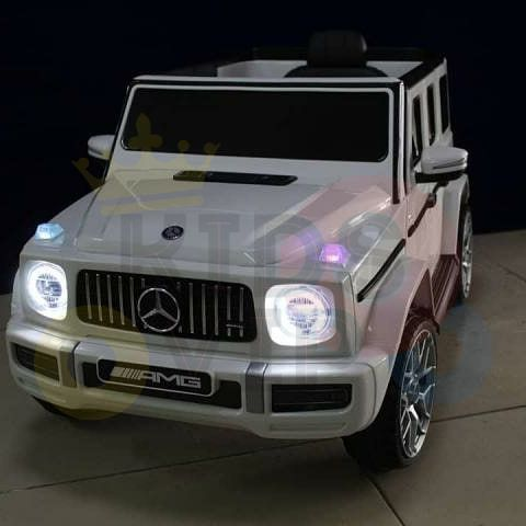 MERCEDES benz amg 306 G63 KIDS TODDLERS RIDE ON CAR 12V RUBBER WHEEL LEaTHeR SEAT KIDSVIP white doors 22