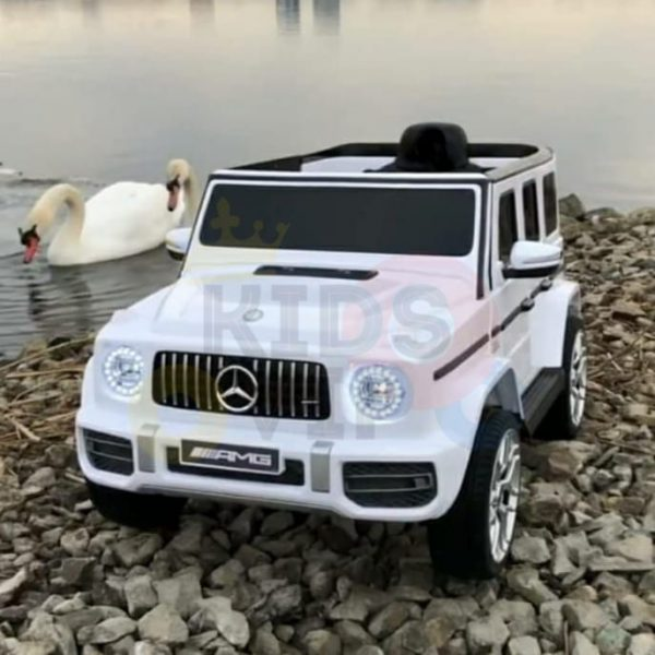 MERCEDES benz amg 306 G63 KIDS TODDLERS RIDE ON CAR 12V RUBBER WHEEL LEaTHeR SEAT KIDSVIP white doors 23