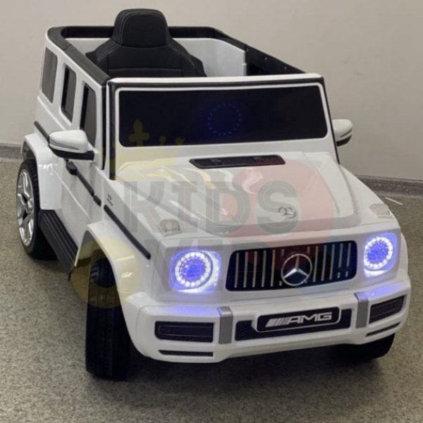 MERCEDES benz amg 306 G63 KIDS TODDLERS RIDE ON CAR 12V RUBBER WHEEL LEaTHeR SEAT KIDSVIP white doors 26