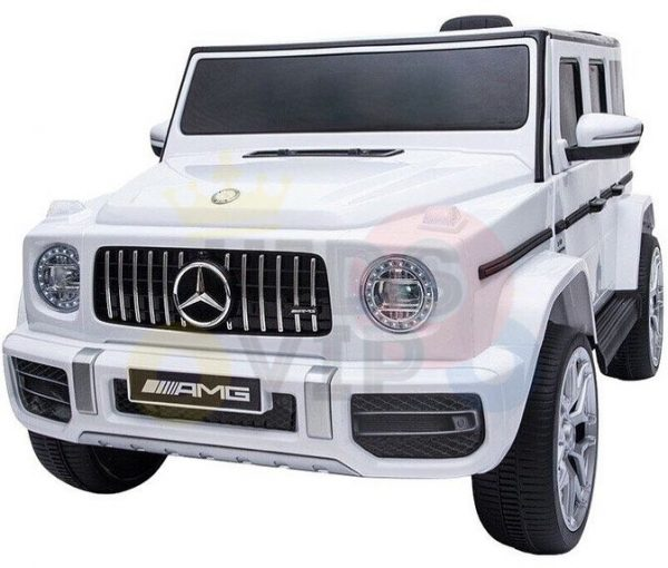 MERCEDES benz amg 306 G63 KIDS TODDLERS RIDE ON CAR 12V RUBBER WHEEL LEaTHeR SEAT KIDSVIP white doors 27