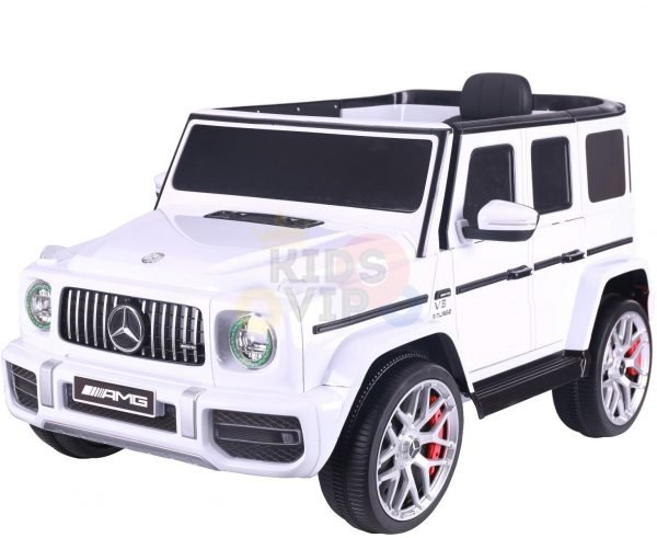 MERCEDES benz amg 306 G63 KIDS TODDLERS RIDE ON CAR 12V RUBBER WHEEL LEaTHeR SEAT KIDSVIP white doors 36