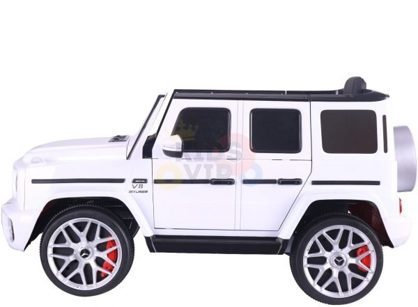 MERCEDES benz amg 306 G63 KIDS TODDLERS RIDE ON CAR 12V RUBBER WHEEL LEaTHeR SEAT KIDSVIP white doors 38