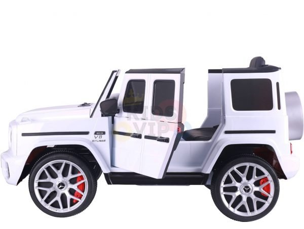 MERCEDES benz amg 306 G63 KIDS TODDLERS RIDE ON CAR 12V RUBBER WHEEL LEaTHeR SEAT KIDSVIP white doors 39