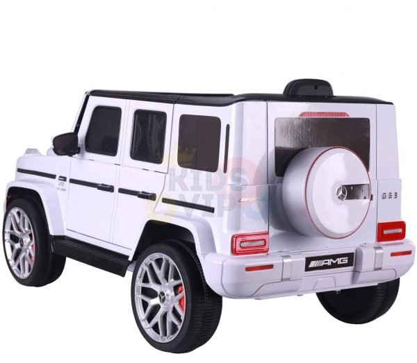 MERCEDES benz amg 306 G63 KIDS TODDLERS RIDE ON CAR 12V RUBBER WHEEL LEaTHeR SEAT KIDSVIP white doors 40