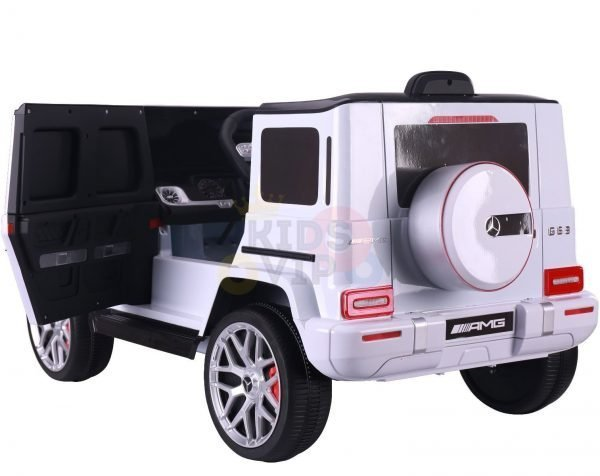MERCEDES benz amg 306 G63 KIDS TODDLERS RIDE ON CAR 12V RUBBER WHEEL LEaTHeR SEAT KIDSVIP white doors 41