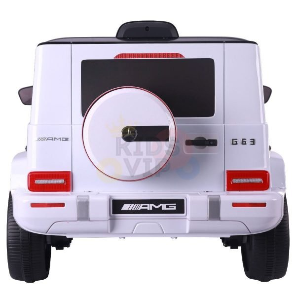 MERCEDES benz amg 306 G63 KIDS TODDLERS RIDE ON CAR 12V RUBBER WHEEL LEaTHeR SEAT KIDSVIP white doors 43