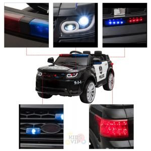 POLICE RIDE ON CAR FOR KIDS AND TODDLERS 12V RUBBER WHEELS KIDSVIP 11