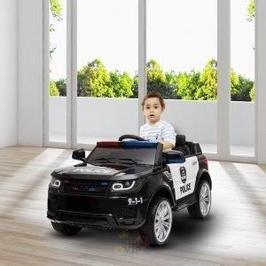 POLICE RIDE ON CAR FOR KIDS AND TODDLERS 12V RUBBER WHEELS KIDSVIP 15