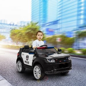 POLICE RIDE ON CAR FOR KIDS AND TODDLERS 12V RUBBER WHEELS KIDSVIP 16