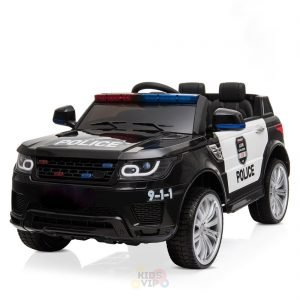 POLICE RIDE ON CAR FOR KIDS AND TODDLERS 12V RUBBER WHEELS KIDSVIP 2