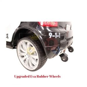 POLICE RIDE ON CAR FOR KIDS AND TODDLERS 12V RUBBER WHEELS KIDSVIP 30
