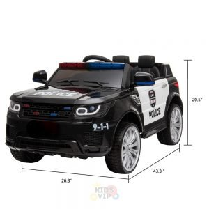 POLICE RIDE ON CAR FOR KIDS AND TODDLERS 12V RUBBER WHEELS KIDSVIP 9