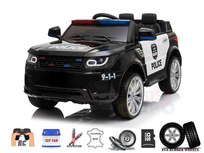 Upgraded 12V Police Edition Kids and Toddlers Ride On Car