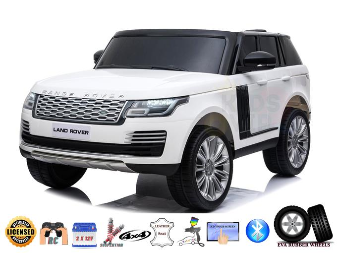 2 Seats Complete Special  MP4 Edition Range Rover 24V Kids Ride On , White on White