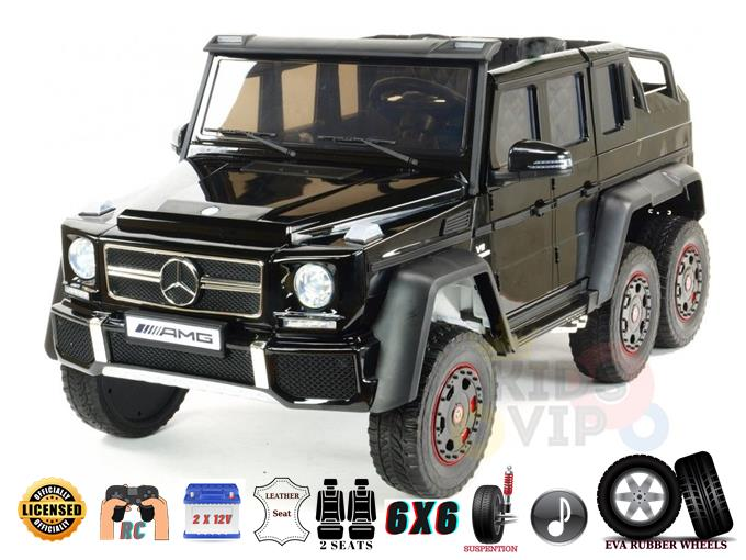 Upgraded 2 Seats Heavy Duty 2x12V 6×6 Official Mercedes G63 Ride on Car with RC