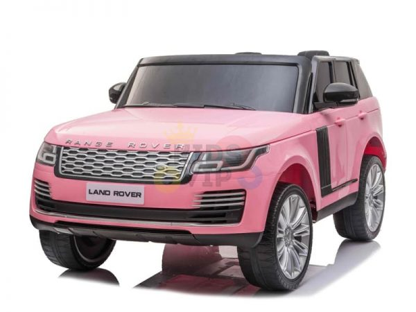RANGE ROVER 2 SEAT RIDE ON CAR hse 2x12v rubber kids and toddlers pink 13