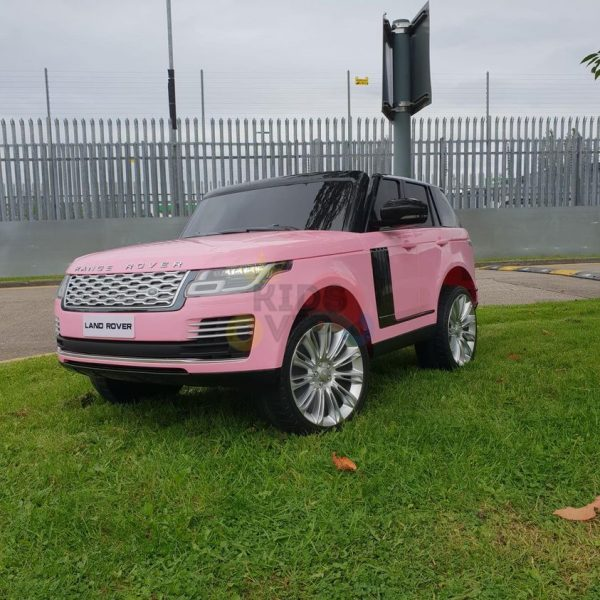 RANGE ROVER 2 SEAT RIDE ON CAR hse 2x12v rubber kids and toddlers pink 16