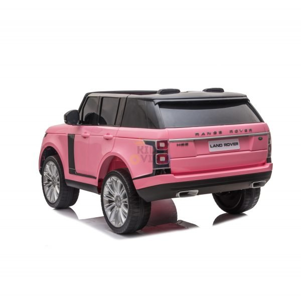 RANGE ROVER 2 SEAT RIDE ON CAR hse 2x12v rubber kids and toddlers pink 4